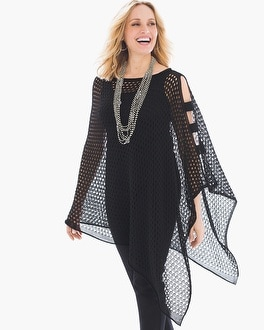 Chico's Penny Perforated Poncho | Tuggl