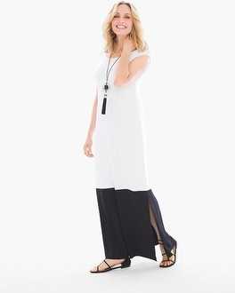 Chico's Colorblock Maxi Dress at Chico's in Brooklyn, NY | Tuggl