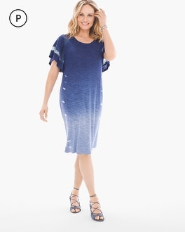 Chico's Petite Tie-Dye Tee Dress at Chico's in Brooklyn, NY   Tuggl