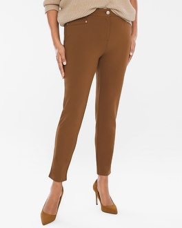 Chico's Diamond Fit Refined Ponte Ankle Pants | Tuggl