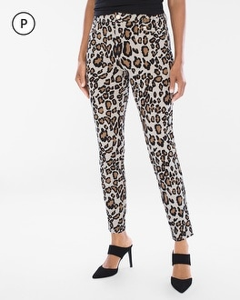 Chico's Petite Refined Ponte Animal Ankle Pants | Tuggl