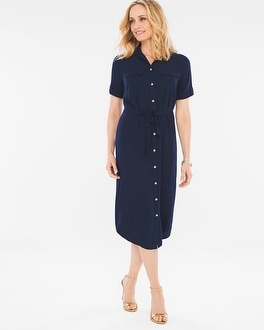 Chico's Soft Utility Midi Dress at Chico's in Brooklyn, NY | Tuggl