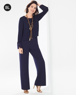 Chico's Pleat-Detail Jumpsuit at Chico's in Brooklyn, NY | Tuggl