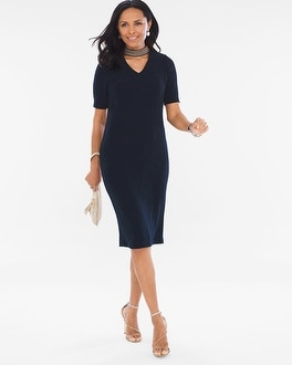 Chico's Neck-Band Dress | Tuggl