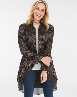 Chico's Floral Feminine Jacket   Tuggl