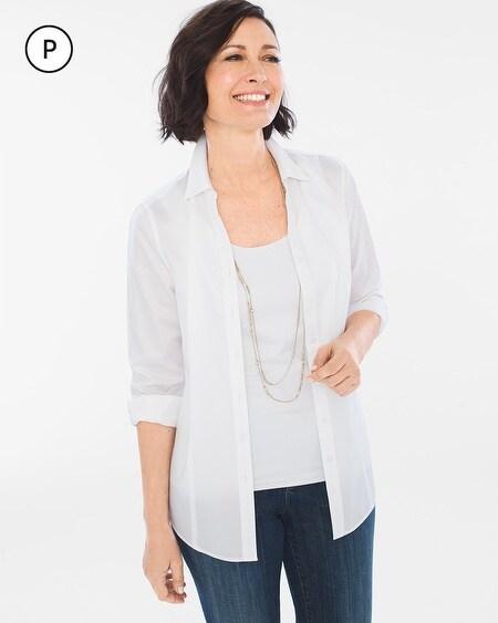 b6162715e No-Iron Petite Sateen Caroline Shirt