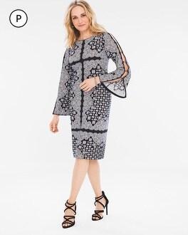 Chico's Petite Scarf-Print Dress | Tuggl