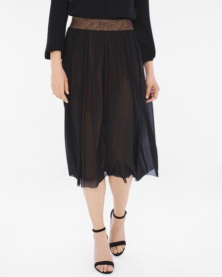 Mesh Animal-Detail Skirt