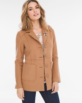 Chico's Boiled Wool Jacket | Tuggl