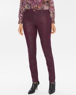 Chico's Faux-Suede Knit Pants | Tuggl