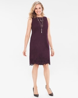 Chico's Faux-Suede Cutout Dress | Tuggl