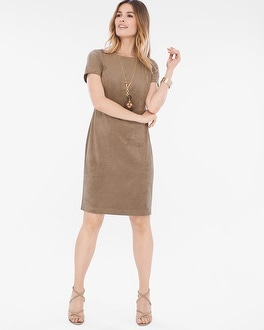 Chico's Faux-Suede Dress | Tuggl