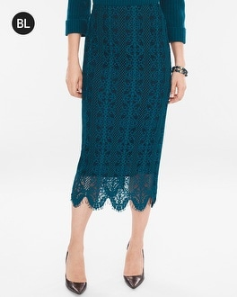 Chico's Lace Midi Skirt | Tuggl