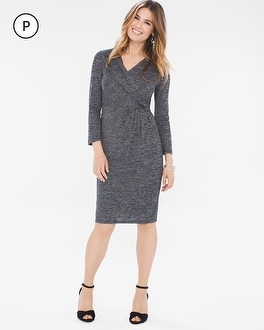 Chico's Petite Heathered Crossover Dress | Tuggl