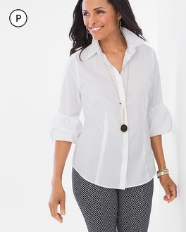 Chico's Petite Bubble-Sleeve Shirt | Tuggl