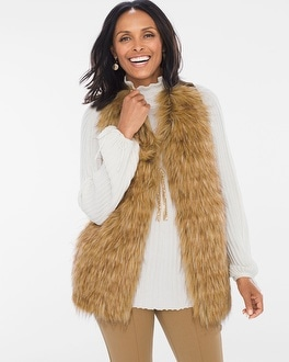 Chico's Faux-Fur Vest at Chico's in Brooklyn, NY | Tuggl