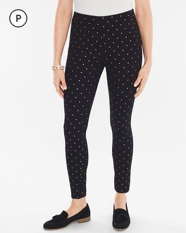 Chico's Petite Knit Foiled Dot Pull-On Leggings at Chico's in Brooklyn, NY   Tuggl