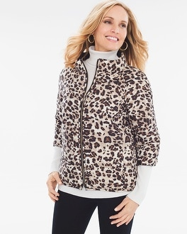 Chico's Reversible Puffer Jacket at Chico's in Brooklyn, NY | Tuggl