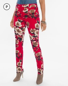 Chico's Petite Painted Deco Floral Jeggings | Tuggl