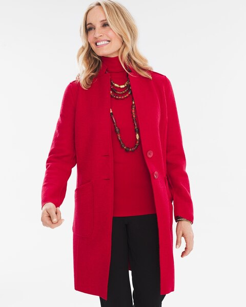 Boiled Wool Blend Ottoman Jacket Chico S