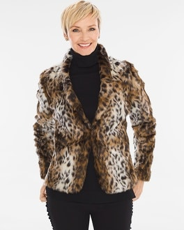 Chico's Animal Faux-Fur Jacket | Tuggl