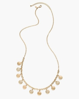Chico's Dora Reversible Single-Strand Necklace | Tuggl