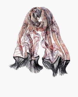 Chico's Floral Lace-Print Scarf | Tuggl