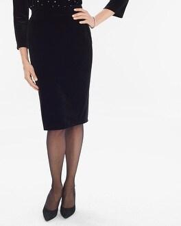 Chico's Velvet Skirt   Tuggl