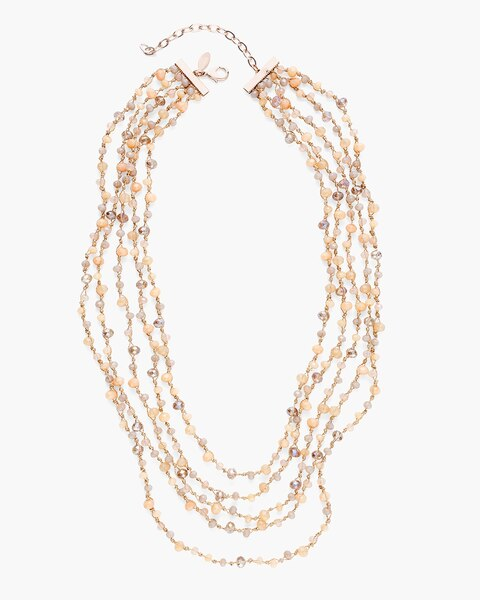leah knotted multi strand necklace chico s Walking Liberty Silver Half Dollar leah knotted multi strand necklace