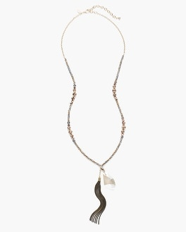 Chico's Belle Tassel Pendant Necklace at Chico's in Brooklyn, NY | Tuggl