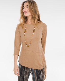 Chico's Sueded Top   Tuggl