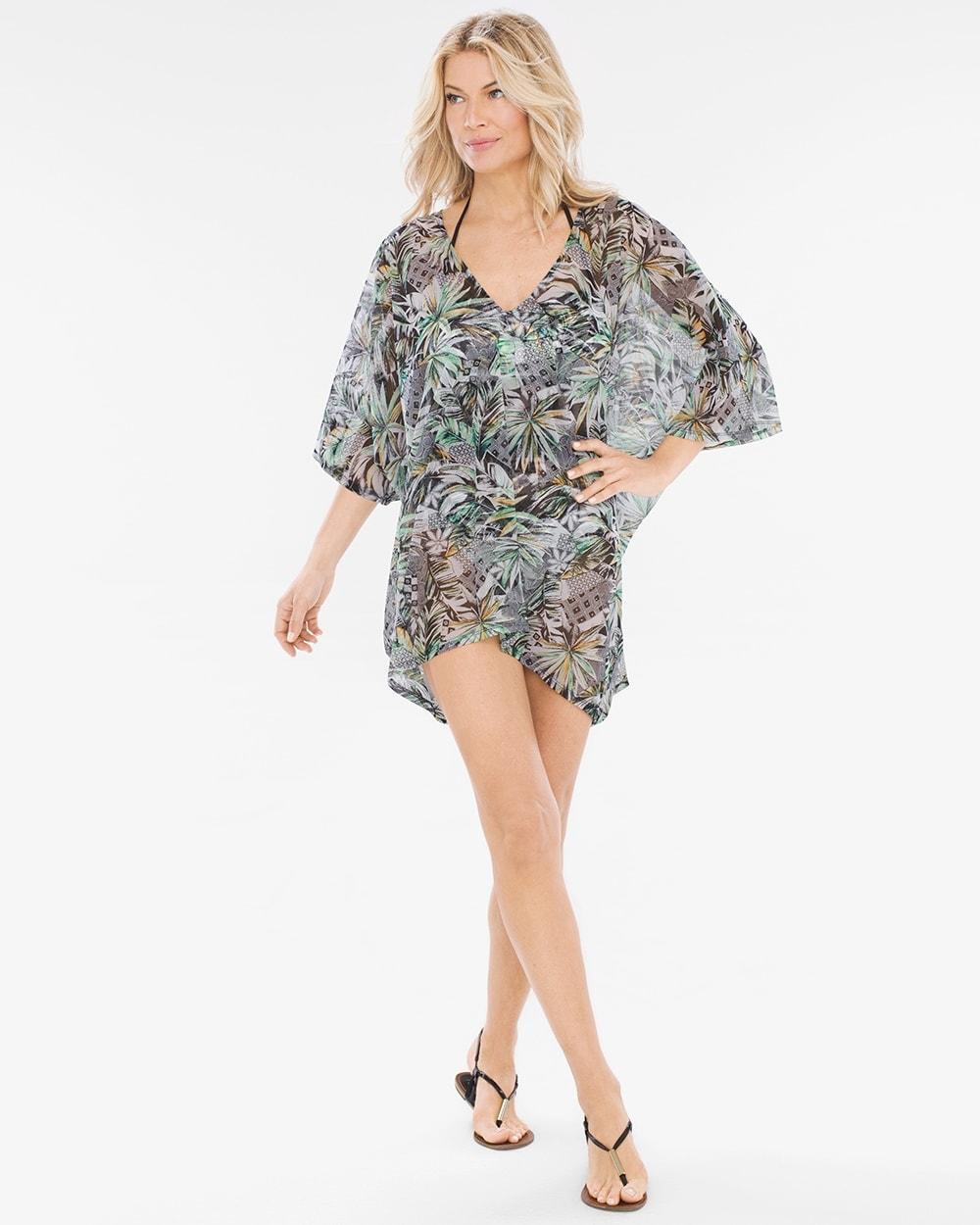fedb7b3183 Palm Reading Kimono-Sleeve Swim Cover-Up Tunic