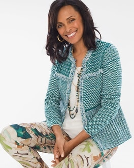 Chico's Structured Tweed Cardigan | Tuggl