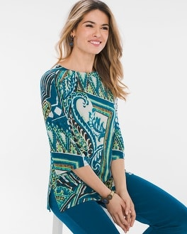 Chico's Paisley Top   Tuggl