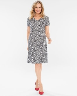 Chico's Floral Jacquard Dress at Chico's in Brooklyn, NY | Tuggl