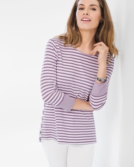 Chico's Mixed Stripe Tee | Tuggl