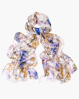 Chico's Lavender Toss Scarf | Tuggl