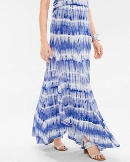 Chico's Tie-Dye Maxi Skirt | Tuggl