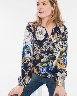 Chico's Primavera Floral Peasant Top at Chico's in Brooklyn, NY | Tuggl