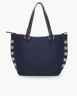 Chico's Nautical Grommets Tote | Tuggl