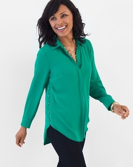 Chico's Lace-Up Side Tunic | Tuggl