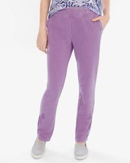 Chico's Washed Lace-Hem Pants | Tuggl