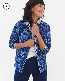 Chico's Petite Neema Reversible Printed Jacket at Chico's in Auburn, GA | Tuggl
