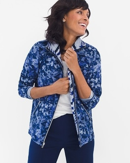 Chico's Neema Reversible Printed Jacket | Tuggl