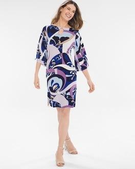 Chico's High Seas Swirl Dress | Tuggl