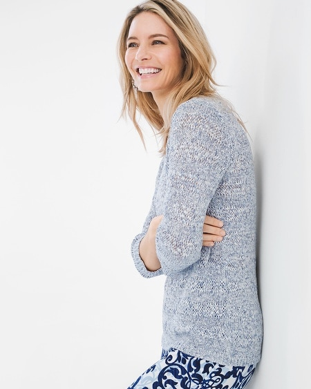 Textured Striped Pullover