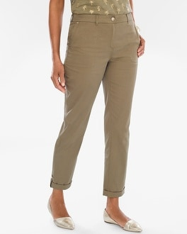 Chico's Comfort Waist Luxe Utility Ankle Pants | Tuggl