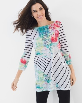 Chico's Abstract-Print Tunic | Tuggl