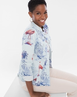 Chico's Sateen Bon Voyage Jacket at Chico's in Brooklyn, NY | Tuggl