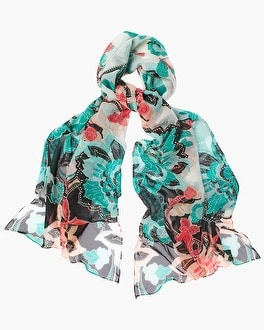 Chico's Convertible Floral Scarf | Tuggl